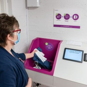 Healthcare workwear at Kuusamo tracked with a chip